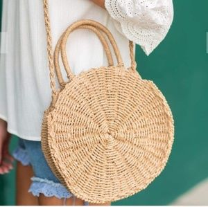 Handbags - Hobo rattan straw round summer bag